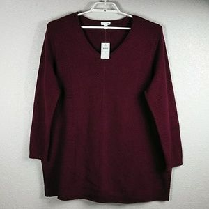 J. Jill Essential V-Neck Sweater Tunic